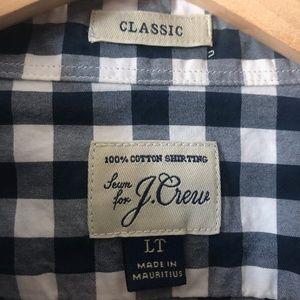 Classic J. Crew Plaid Button-Up - Slim Large Tall